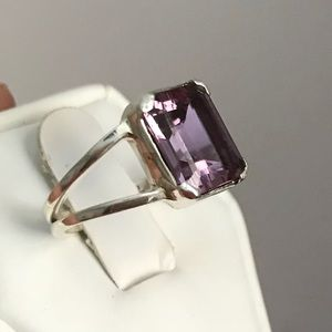 Alexandrite Lab Color Change 925 Sterling Ring